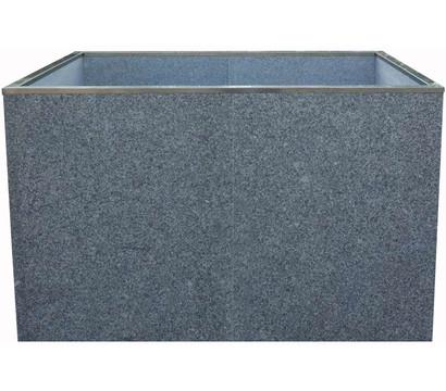 Granit-Hochbeet, rechteckig, 119 x 78 x 75 cm, grau