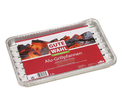 Gute Wahl Aluminium-Grillpfanne, 5 Stück