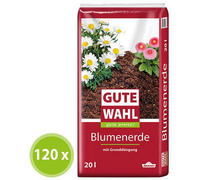 Gute Wahl Blumenerde, 120 x 20 Liter
