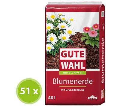 Gute Wahl Blumenerde, 51 x 40 Liter