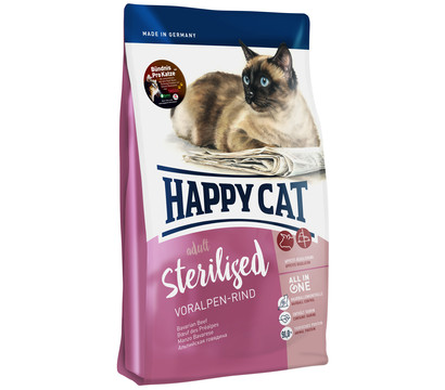Happy Cat Trockenfutter Adult Sterilised, Voralpen-Rind