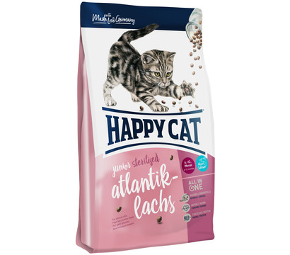Happy Cat Trockenfutter Junior Sterilised, Atlantik-Lachs