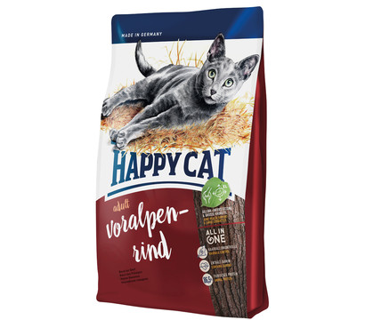 Happy Cat Trockenfutter Supreme Adult, Voralpen-Rind