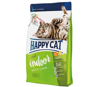 Happy Cat Trockenfutter Supreme Indoor Adult, Weide-Lamm