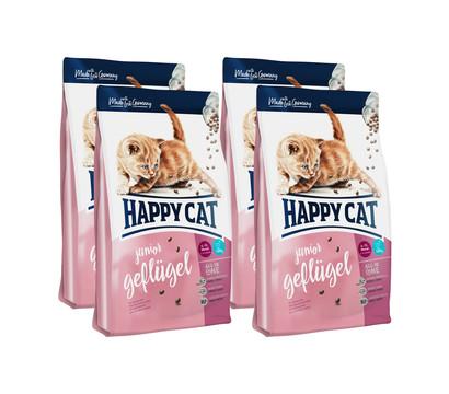 Happy Cat Trockenfutter Supreme Junior, Geflügel 4 x 1,4kg