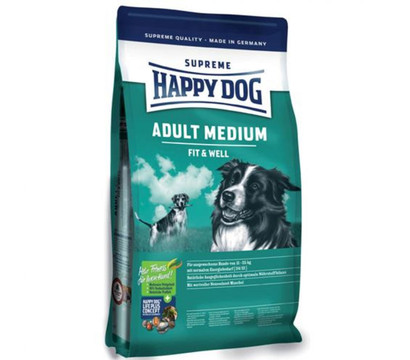 Happy Dog Medium Adult Fit & Well, Trockenfutter