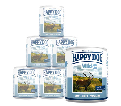Happy Dog Pur, Nassfutter, 6 x 400g/12 x 400g
