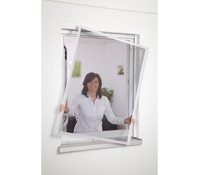 Hecht Fliegengitter Fensterbausatz Basic, 100x120 cm