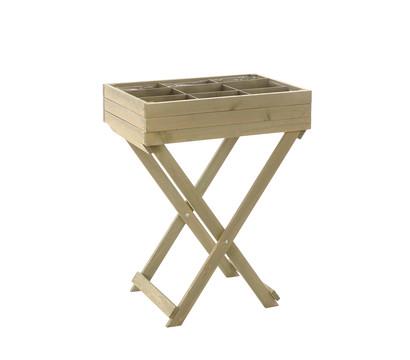 Holz-Kräutertisch, 58 x 38 x 75 cm, grau
