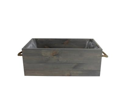 Holz-Kiste, grau-braun