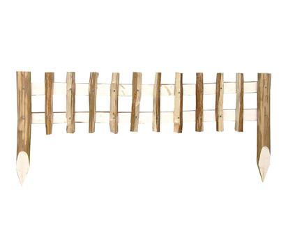 Holz-Naturbeetzaun, natur, 100 x 25-45 cm