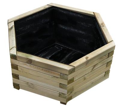 Holz-Pflanzkasten, ca. Ø60/H26 cm, braun
