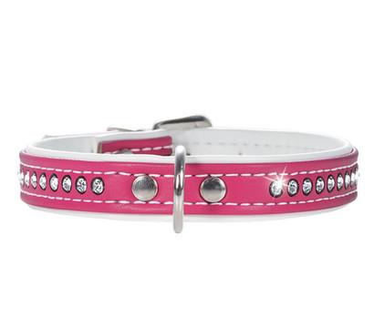 HUNTER Hundehalsband Modern Art Luxus, pink/weiss
