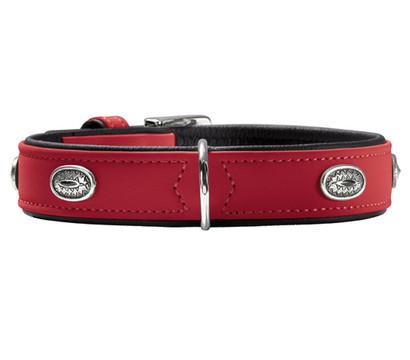 HUNTER® Hundehalsband Softie Stone, rot/schwarz