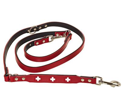 HUNTER® verstellbare Führleine Swiss, rot/schwarz