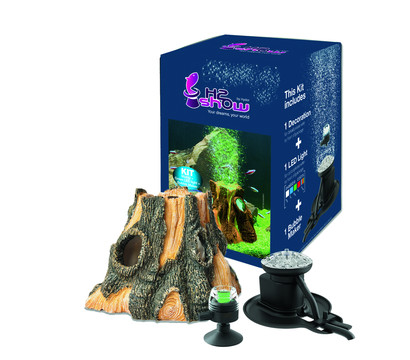 hydor Earth Wonders Kit Baumstamm mit LED & Bubblemaker