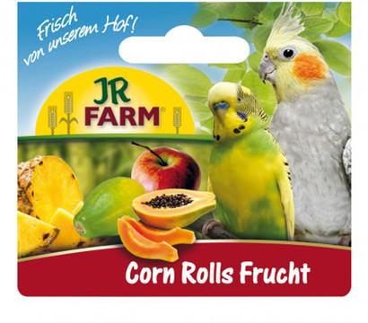JR FARM Vogelsnack Corn Rolls Frucht mit Halter