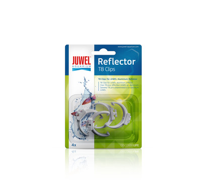JUWEL® AQUARIUM Aquariumzubehör Kunststoffclips T8 26 mm für Reflektoren, 4 Stück