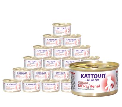 KATTOVIT Feline Diet Nassfutter Niere/Renal Lamm, 24 x 85g