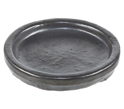 Keramik Blumentopfuntersetzer, rund, anthrazit glasiert