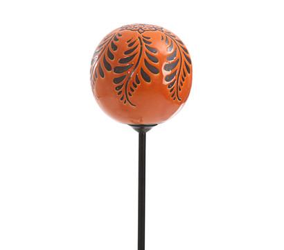 keramik gartenkugel auf metallstab orange dehner garten. Black Bedroom Furniture Sets. Home Design Ideas