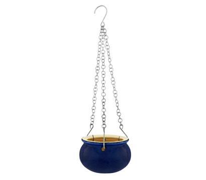 keramik h ngeampel blau glasiert rund dehner garten center. Black Bedroom Furniture Sets. Home Design Ideas