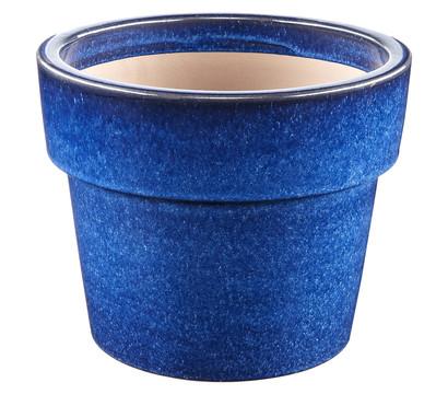 keramik topf blau glasiert rund dehner garten center. Black Bedroom Furniture Sets. Home Design Ideas