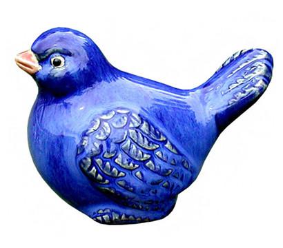Keramik vogel blau glasiert 11 x 6 x 7 cm dehner for Gartenfiguren aus keramik