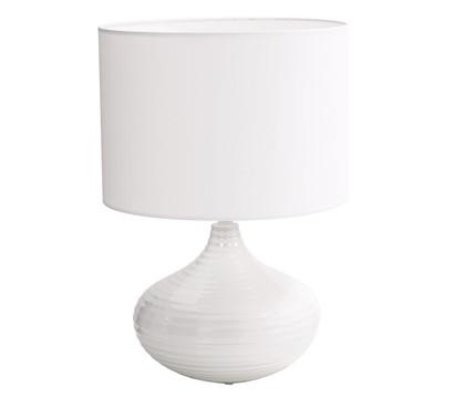 Keramiklampe mit Schirm, 48 cm