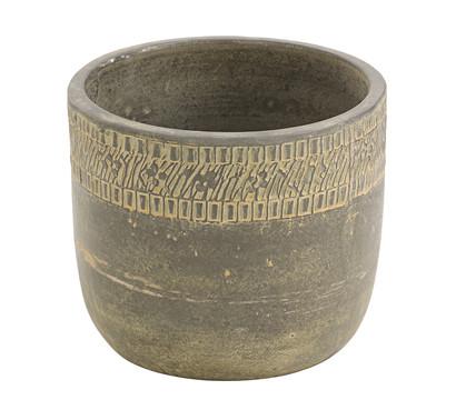 Keramik-Topf, schwarz-grau