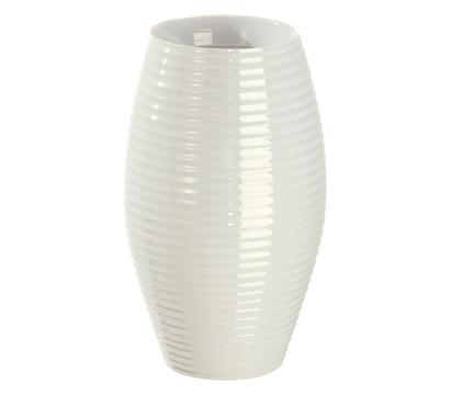 Keramik-Vase, weiß, Ø 18 cm