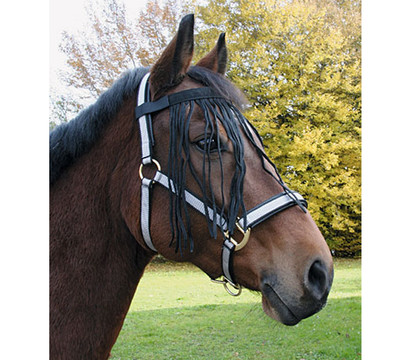 Kerbl Fliegenfransenband für Pony, schwarz