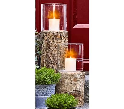 Kerzenhalter Holz & Glas