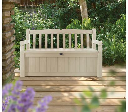 keter gartenbank mit kissenbox beige 2 sitzer dehner garten center. Black Bedroom Furniture Sets. Home Design Ideas