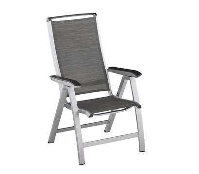 kettler hks klappsessel forma ii silber graphit dehner. Black Bedroom Furniture Sets. Home Design Ideas