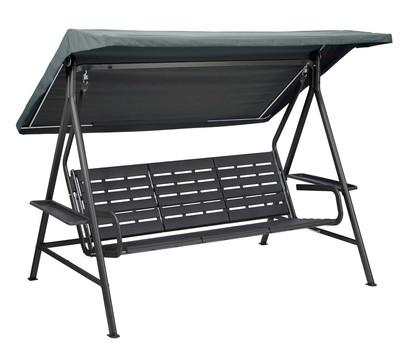 kettler hollywoodschaukel paradise ohne dach stahl kunststoff anthrazit dehner garten center. Black Bedroom Furniture Sets. Home Design Ideas