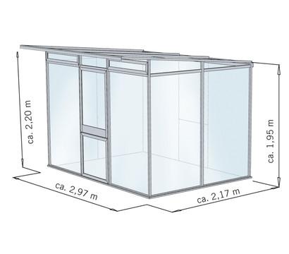 kgt gew chshaus linea ii 297 x 217 cm dehner garten center. Black Bedroom Furniture Sets. Home Design Ideas