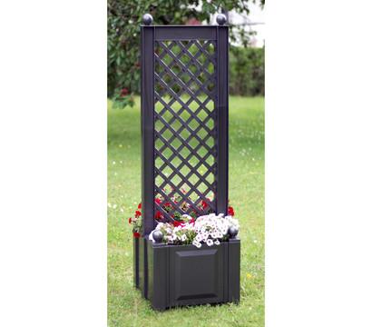 khw kunststoff pflanzkasten mit spalier 43 x 43 x 140 cm dehner garten center. Black Bedroom Furniture Sets. Home Design Ideas