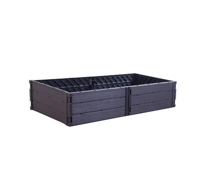 KHW Kunststoff-Hochbeetsystem Modi, 112,5 x 57,5 x 25 cm, anthrazit