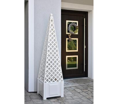 KHW Kunststoff-Pflanzkasten mit Obelisk, inkl. Aufsatz