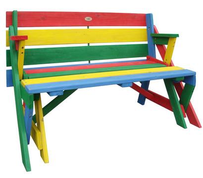 Kinder Picknickbank bunt, 100 x 50 x 62 cm