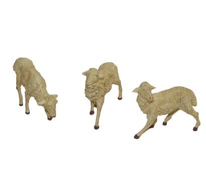 Kolbe Schafe weiß, für 19 cm Figuren, 3-teilig