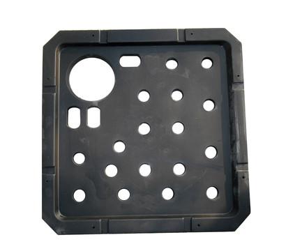 kunststoff-ersatzdeckel für brunnen, schwarz, 56 x 56 x 3 cm, Gartengestaltung