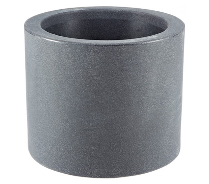 Relativ Kunststoff-Blumenkübel Kubus, rund, anthrazit, Ø 40 cm | Dehner HQ15