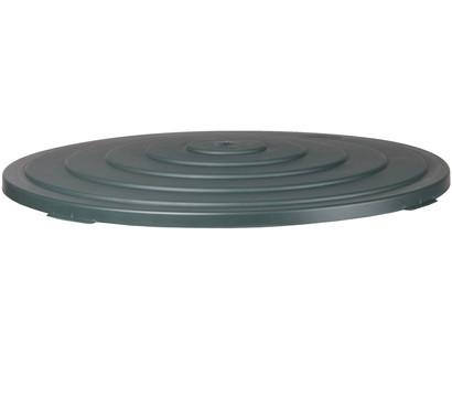 Kunststoff-Deckel für Regentonne 500 l, rund, dunkelgrün