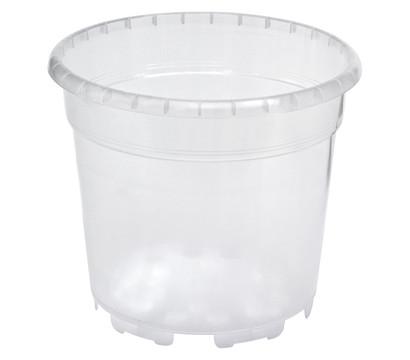 Kunststoff-Orchideentopf, rund, transparent