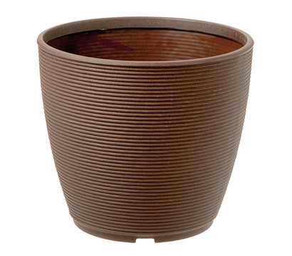 Kunststoff-Pflanztopf Urban Ring, bronze