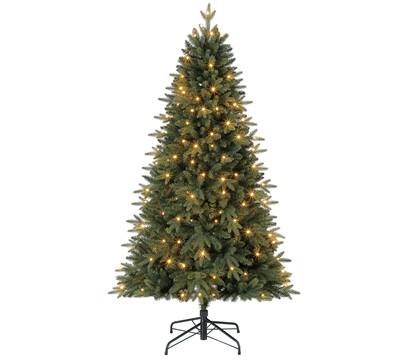 Dehner Künstlicher Weihnachtsbaum Tanne 'Espen' mit LED-Beleuchtung, 180 cm
