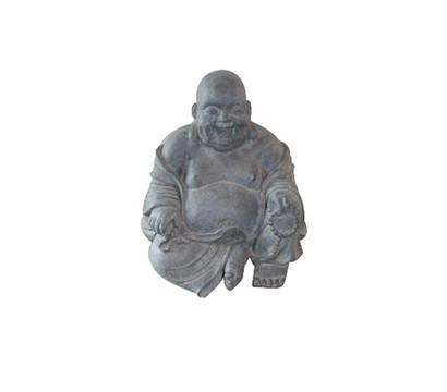 Leichtbeton Buddha Sitzend Und Lachend Granit 46 X 42 X