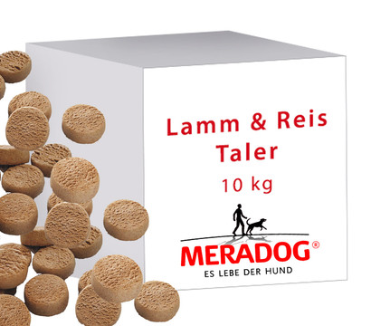 Meradog Lamm & Reis Taler, Hundesnacks, 10kg